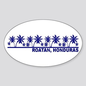 Roatan, Honduras Oval Sticker