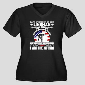 Lineman - I Am The Storm Plus Size T-Shirt