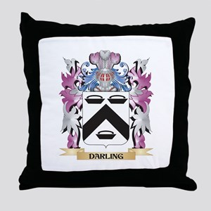 Darling Coat of Arms (Family Crest) Throw Pillow