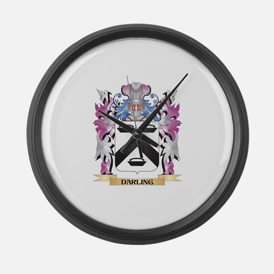 Darling Coat of Arms (Family Cres Large Wall Clock