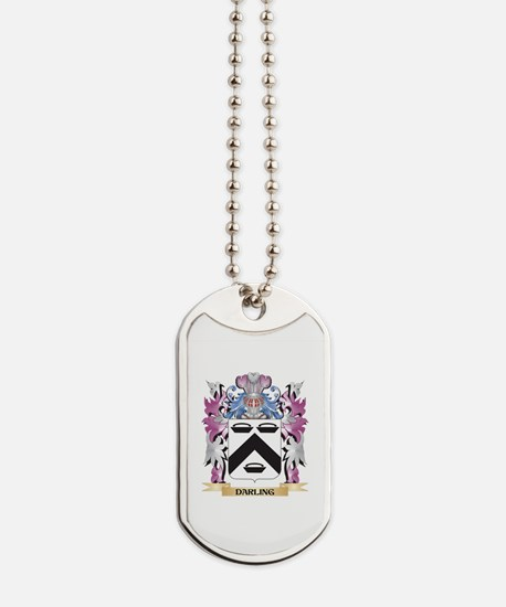 Darling Coat of Arms (Family Crest) Dog Tags