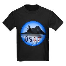 future USAF pilot (F-117) Kids Dark T-Shirt