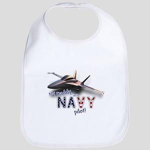 Daddy Navy Pilot (F-18) Bib