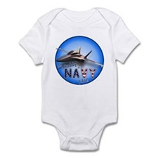Daddy Navy Pilot (F-18)bc Infant Bodysuit