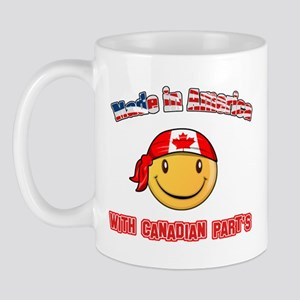 Made in America with Canadian parts Mug