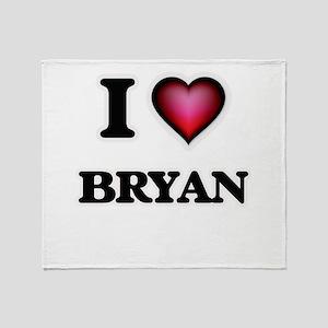 I love Bryan Throw Blanket