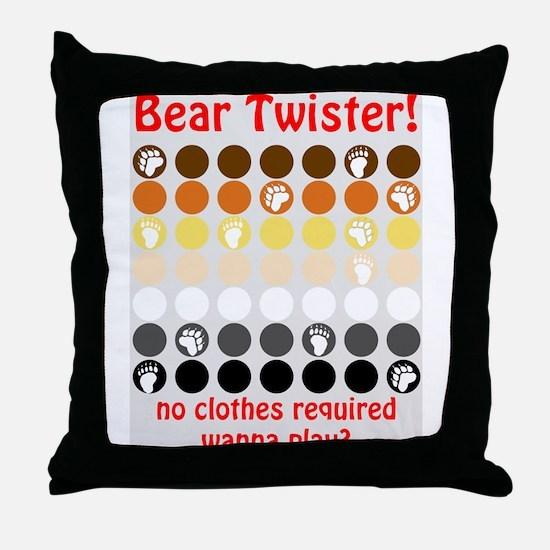 Bear Twister Throw Pillow