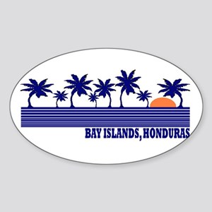 Bay Islands, Honduras Oval Sticker