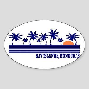 Bay Islands, Honduras Oval Sticker