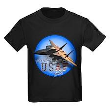 Daddy USAF Pilot (F-15)bc Kids Dark T-Shirt