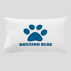 Russian Blue Cat Designs Pillow Case