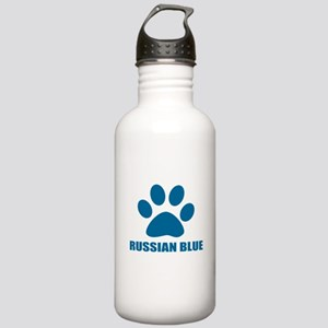 Russian Blue Cat Desig Stainless Water Bottle 1.0L