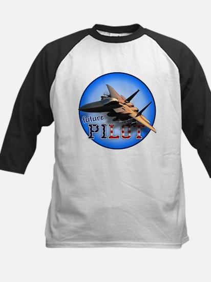future pilot (F-15 Eagle) Kids Baseball Jersey