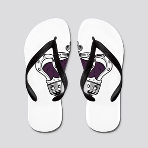 Crown - Purple Flip Flops