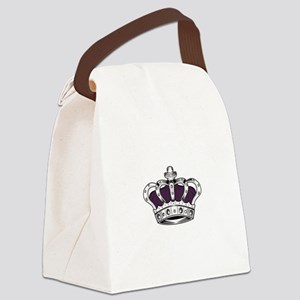 Crown - Purple Canvas Lunch Bag