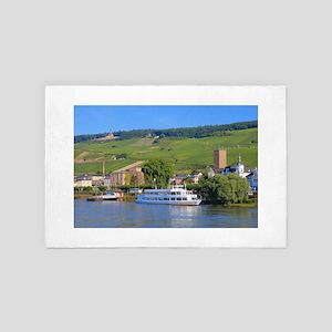 Cruise boat Rudesheim, Germany 4' x 6' Rug