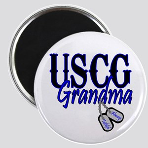 USCG Grandma Dog Tag Magnet