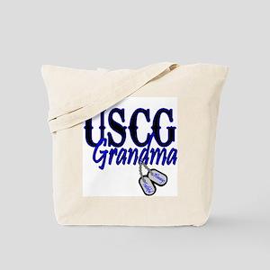 USCG Grandma Dog Tag Tote Bag