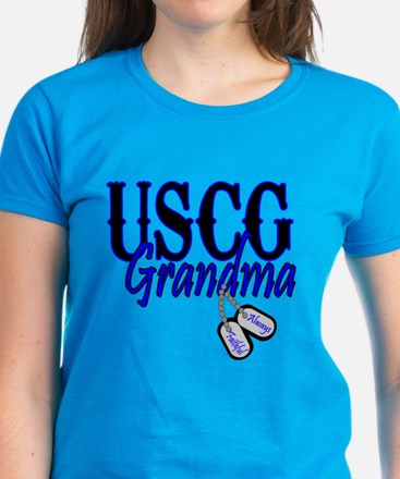 USCG Grandma Dog Tag Women's Dark T-Shirt