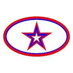 U.S.A. Star Oval Sticker