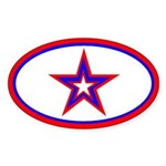 U.S.A. Star Oval Sticker