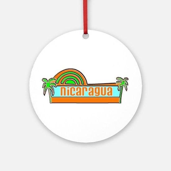 Nicaragua Ornament (Round)