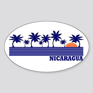 Nicaragua Oval Sticker