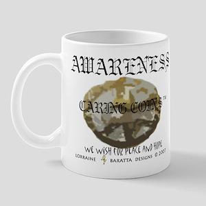 Awareness - Caring Coins Peac Mug