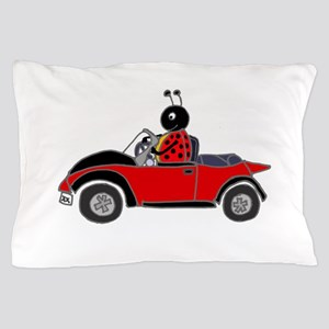 Ladybug Driving Bug Pillow Case