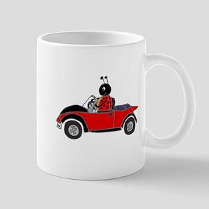 Ladybug Driving Bug Mugs