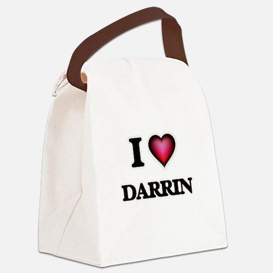 I love Darrin Canvas Lunch Bag