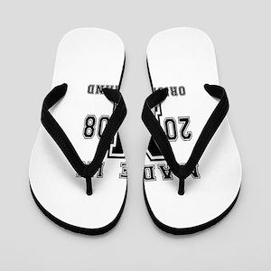 Made In 2008 Original Brand Birthday De Flip Flops