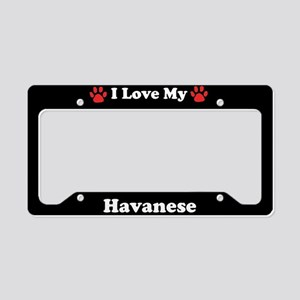 I Love My Havanese Dog License Plate Holder