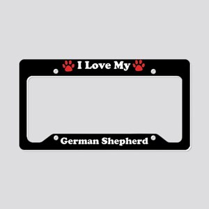 I Love My German Shepherd Dog License Plate Holder
