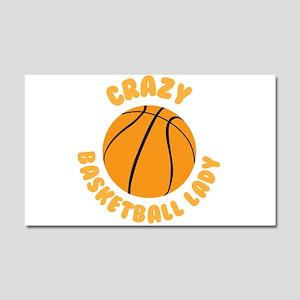 Crazy basketball lady Car Magnet 20 x 12