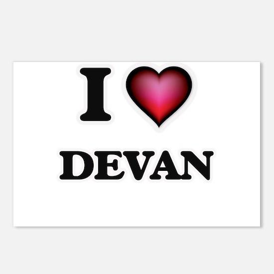 I love Devan Postcards (Package of 8)