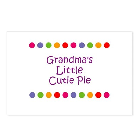 Grandma's Little Cutie Pie Postcards (Package of 8