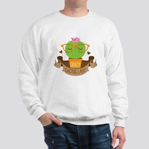 Crazy cactus lady on a banner Jumper
