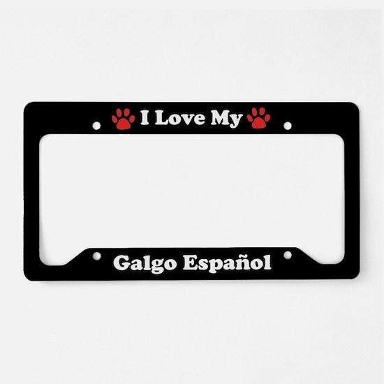I Love My Galgo Espanol Dog License Plate Holder