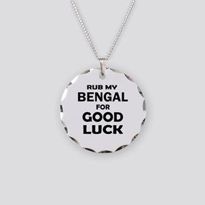 Rub my Bengal for good luck Necklace Circle Charm