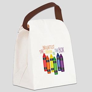 Brightest Crayon Canvas Lunch Bag