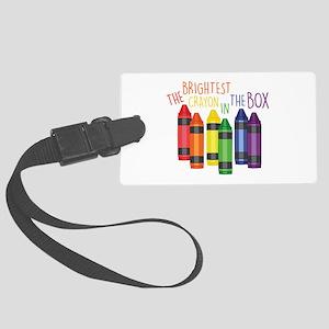 Brightest Crayon Luggage Tag