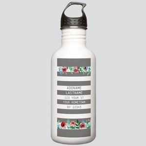 Colorful Floral Painte Stainless Water Bottle 1.0L