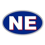 New England Oval Sticker