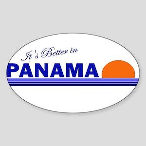 Its Better in Panama Oval Sticker