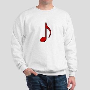 Retro Red Note Sweatshirt