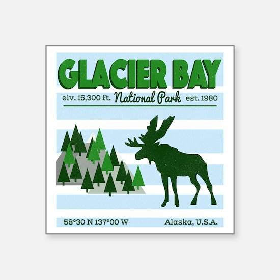 "Cute Glacier bay national park and preserve Square Sticker 3"" x 3"""