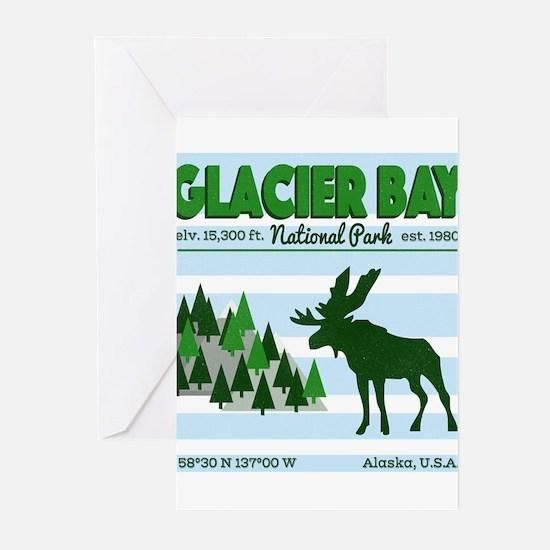 Great Sky Glacier Bay National Park Greeting Cards