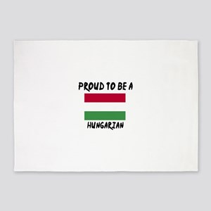 Proud To Be Hungarian 5'x7'Area Rug