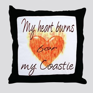 Burning Heart Coastie Throw Pillow